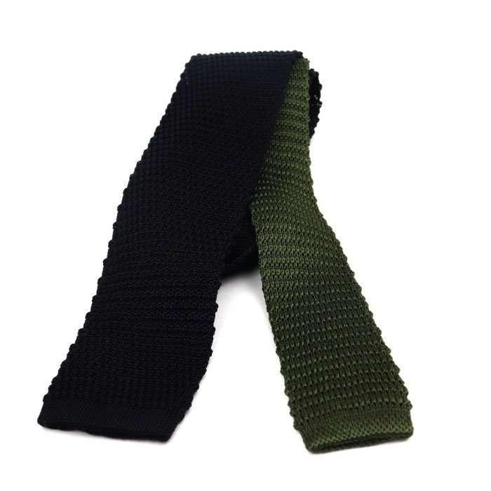 black-silk-knit-tie