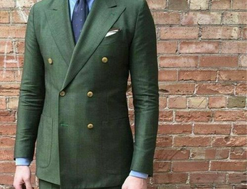 Olive Green Double Breasted Made to Measure