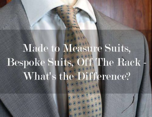 Made to Measure Suits, Bespoke Suits, Off The Rack – What's the Difference?