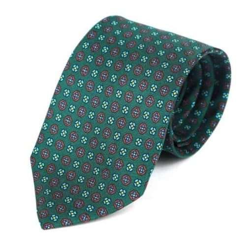 Luxury Silk Italian Tie - Green Silk Tie