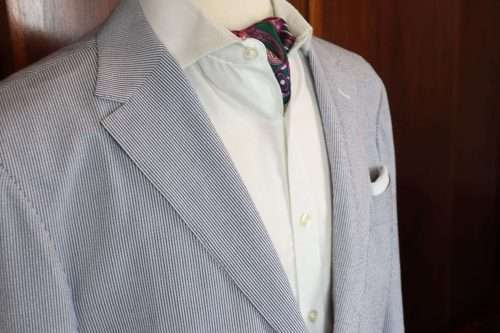 Seersucker Made to Measure Suit