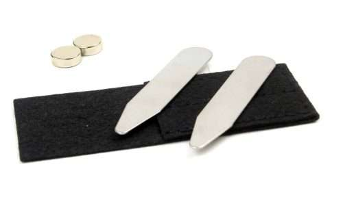 "Magnetic Collar Stays 2"" - Stainless Steel"