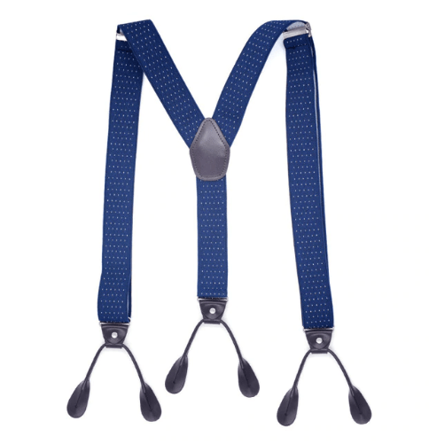 Mens Trouser Braces/Suspenders - Navy