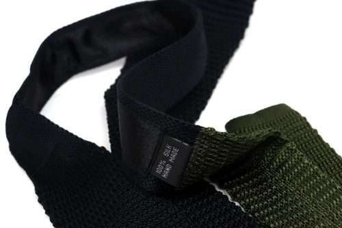 Black & Moss Silk Knitted Tie