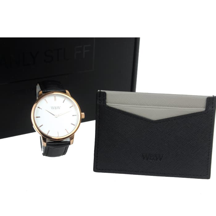 Mens Christmas Gifts - Engraved Watch & Wallet Gift Set