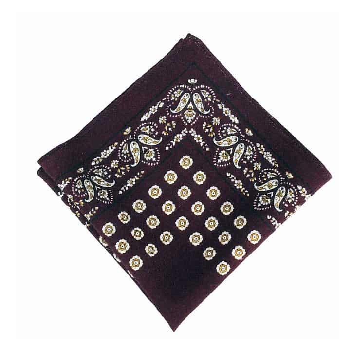 Navy Vintage Style Wool Pocket Square