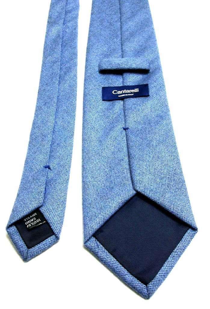 CANTARELLI CASHMERE - VINTAGE CASHMERE BLUE TIE - BACK