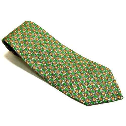 INTERNO 8 ROMA - GREEN VINTAGE TIE - SILK