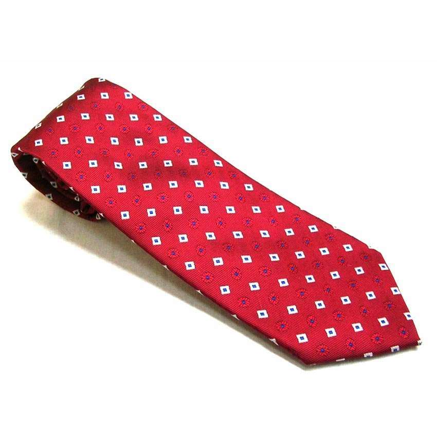 MADE IN ITALY 7 SEVEN FOLDS - RED TIE