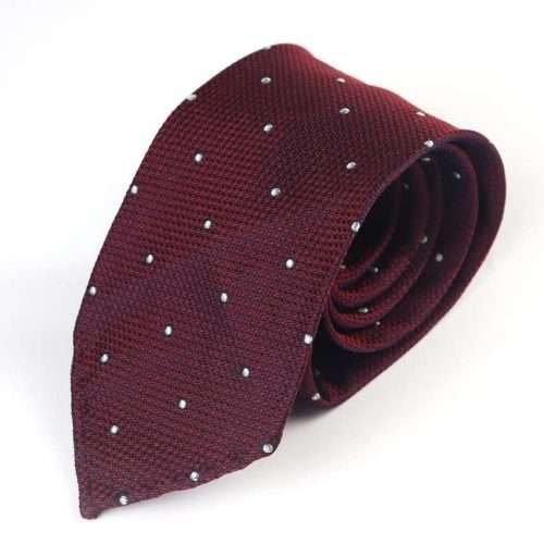 wine-polka-dot-untipped-silk-tie-mens-ties-ireland
